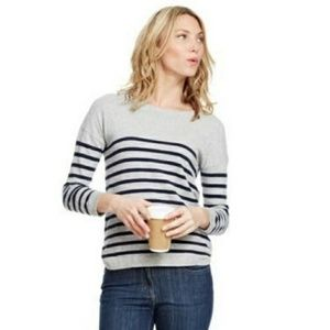 BODEN Everyday Sweater in Grey & Black Size 10